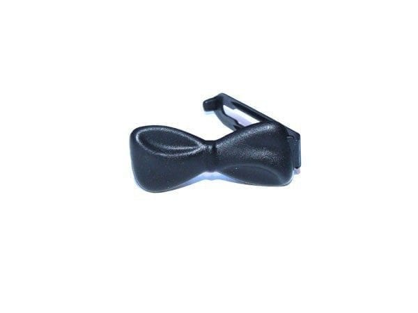 Strikjes - plastic groot per stuk zwart