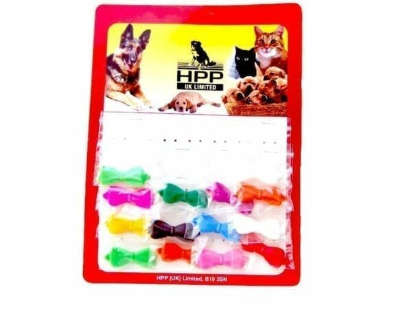 Strikjes - plastic klein per kaart (14 stuks)