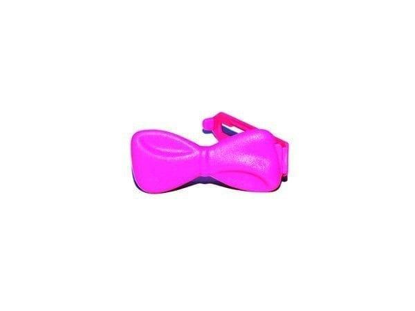Strikjes - plastic groot per stuk pink