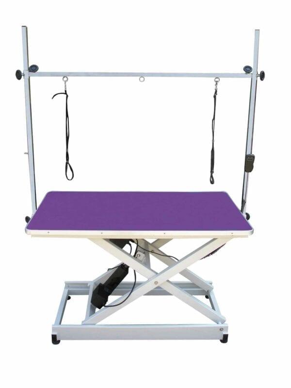 Electrische trimtafel schaarmodel 60 x 110 Blauw tafelblad